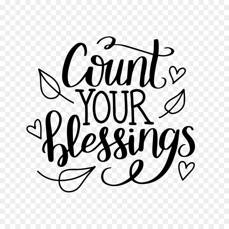 Count Your Blessings Clipart.