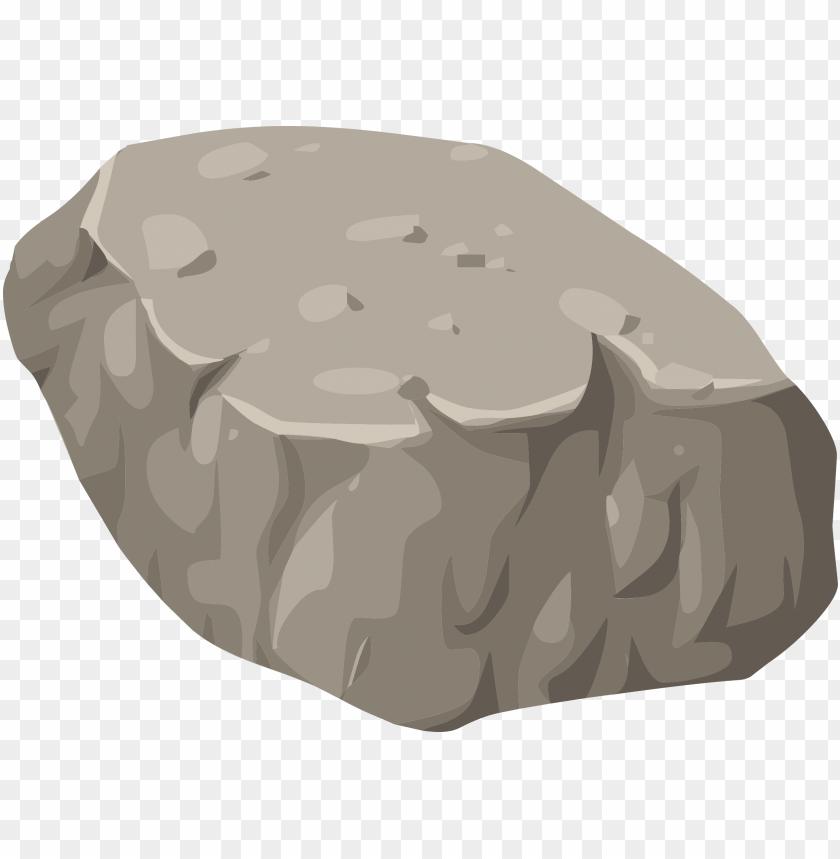 stone clipart big rock.