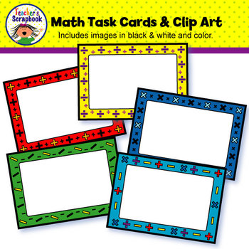 Math Task Cards & Clip Art.
