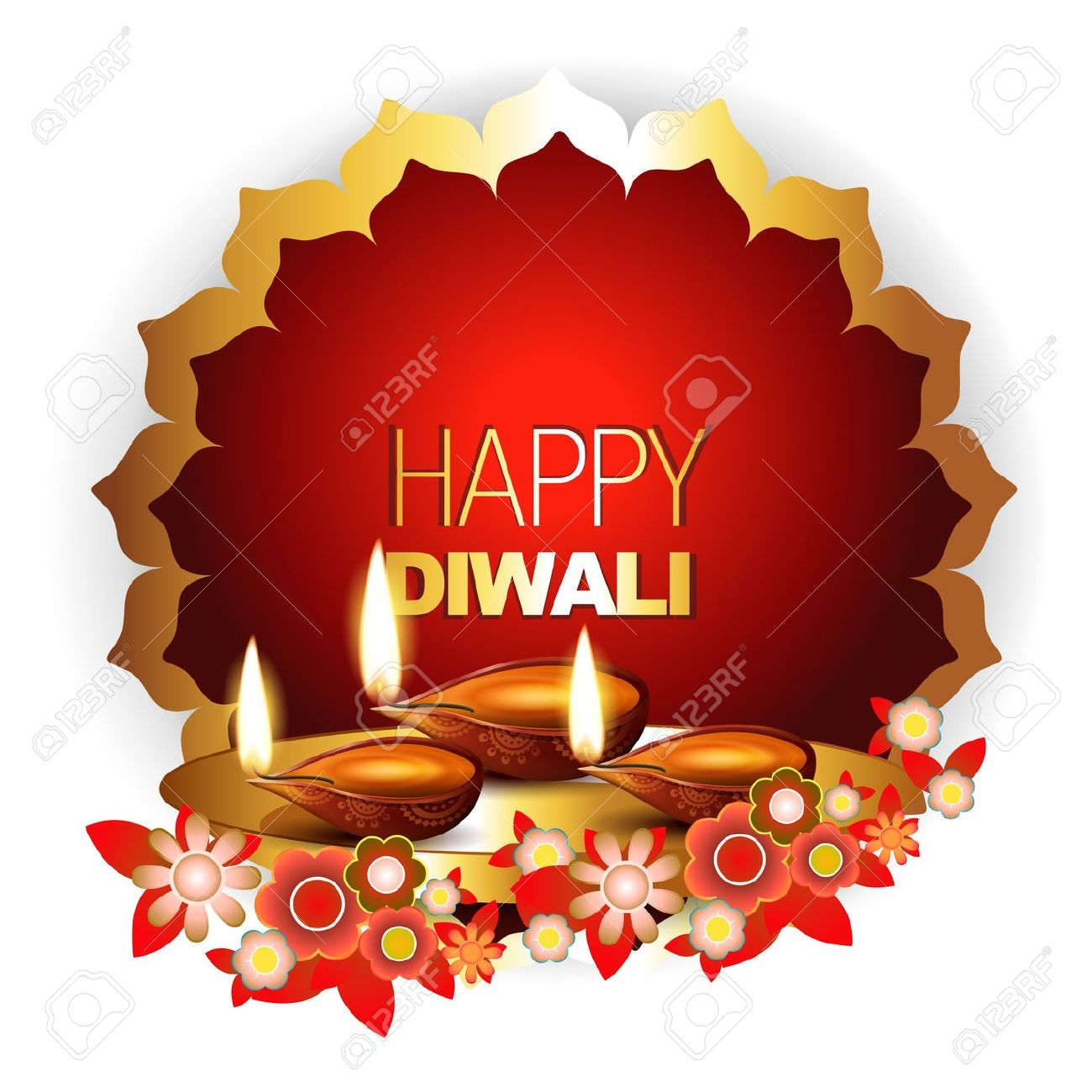 Beautiful Happy Diwali Background With Space For Your Text Royalty.