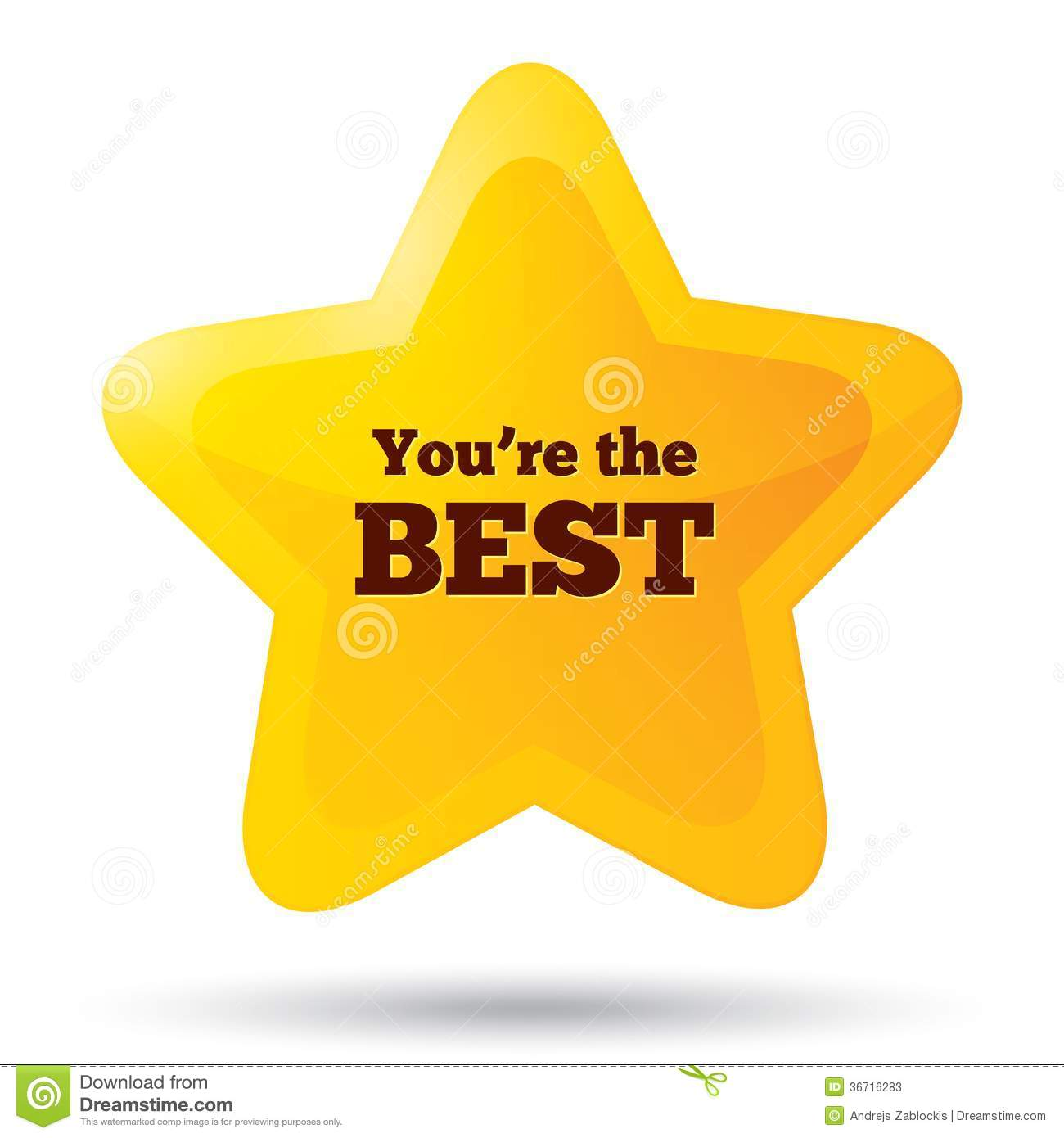 You Are The Best Clipart.