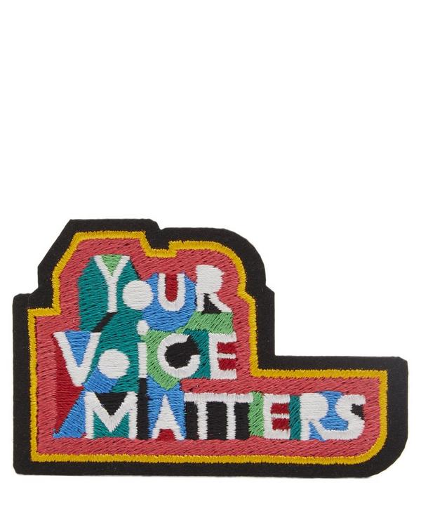 Your Voice Matters Embroidered Patch.