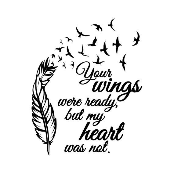 Your Wings Were Ready Graphics SVG Dxf EPS Png Cdr Ai Pdf.