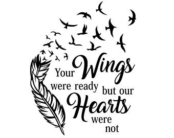 Your wings were.
