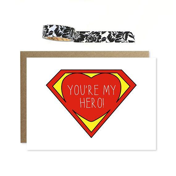 You\'re My Hero Card, Husband Hero, Wife Hero, You\'re My.