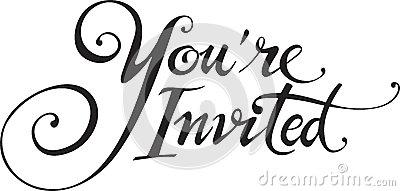 Invited Stock Illustrations.