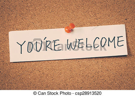 You re welcome clip art free.