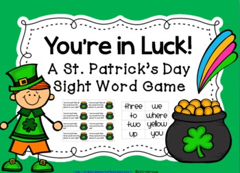 St. Patrick\'s Day Sight Word Game~ You\'re in Luck!.