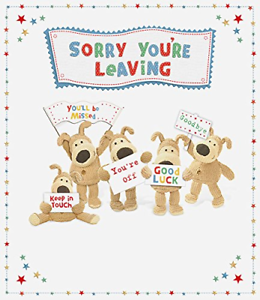 Details about Boofle Large Sorry Youre Leaving Greeting Card.