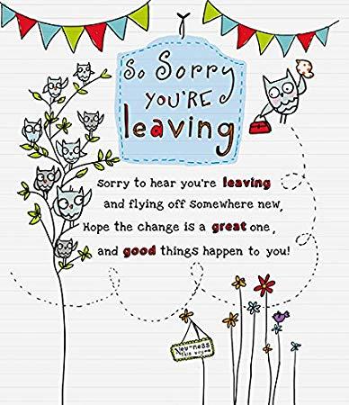 Amazon.com: So Sorry You\'re Leaving.