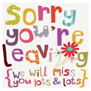 Sorry you re leaving clipart collection.