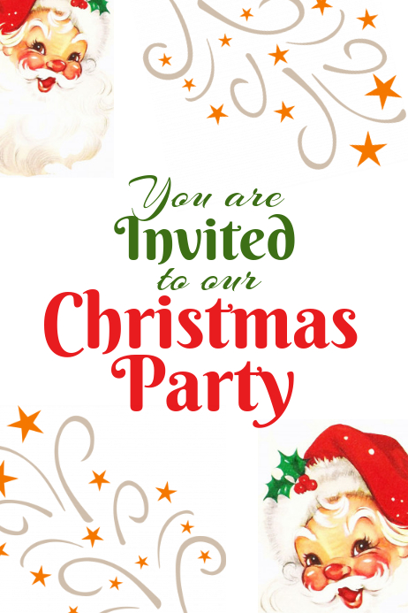 Xmas Party invite Template.