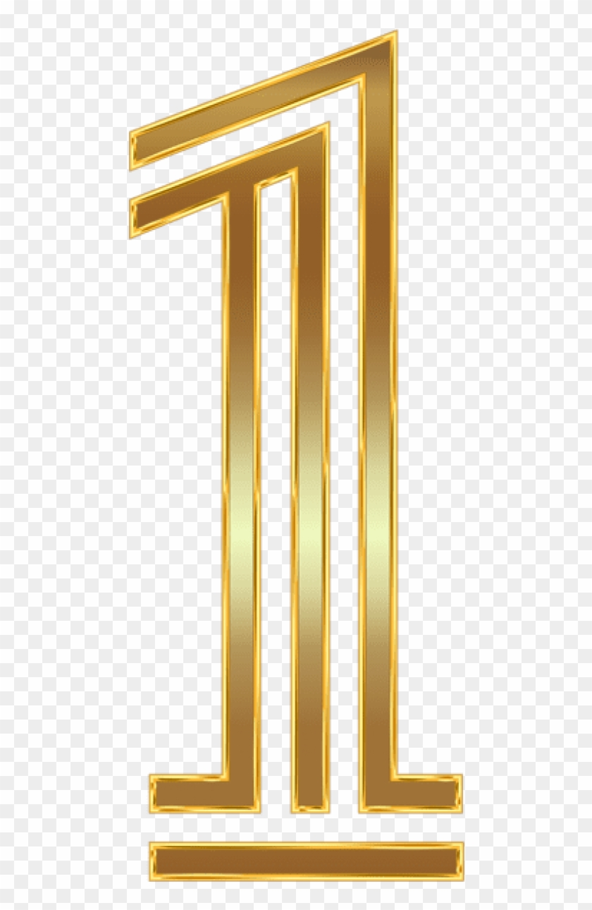 Free Png Download Number One Gold Clipart Png Photo.