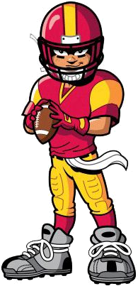 Youth Football Clipart.