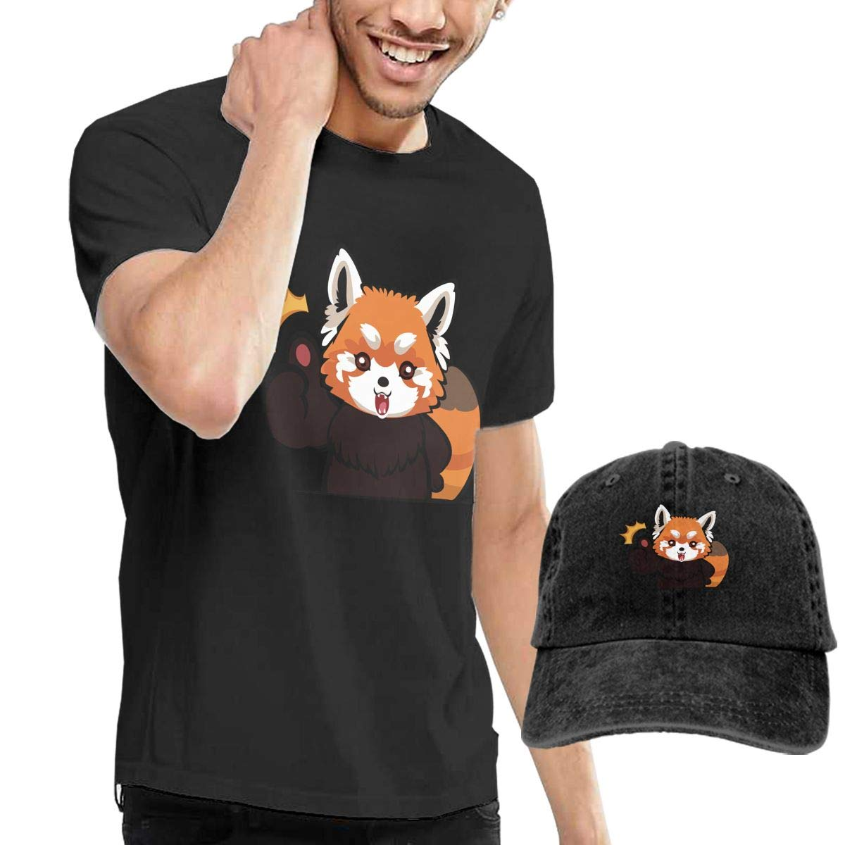 Red Panda Clipart Face Fashion Men\'s T.
