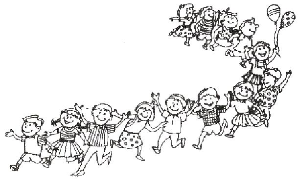 Children Play Clipart Black And White.