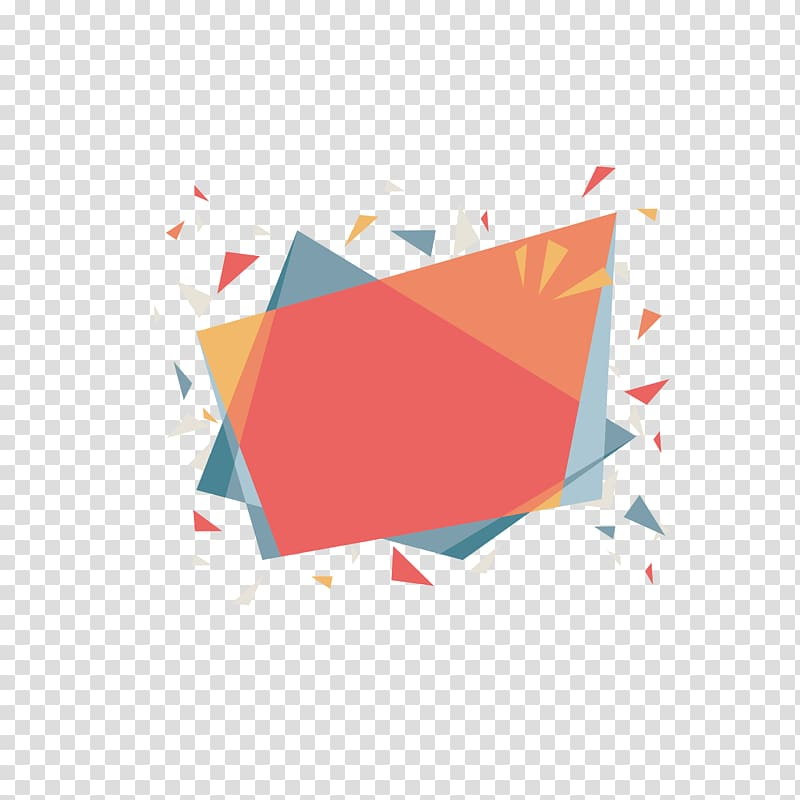 Confetti illustration, Geometry, Geometry color youth border.