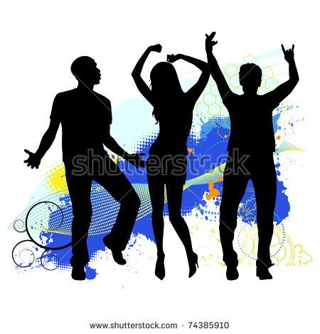 Dancing Drawing Men Women Stock Images, Royalty.