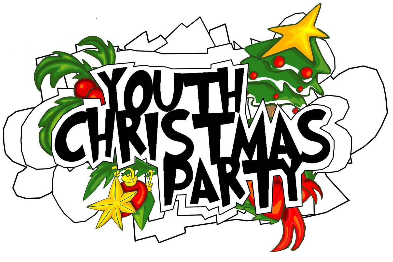 Youth christmas party clipart.