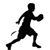 Flag Football Clipart Silhouette.