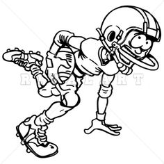 Sports Clipart Image of Football Pile Up Graphic.