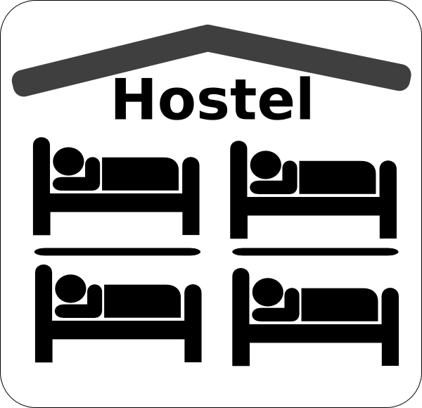 Youth hostel clipart.
