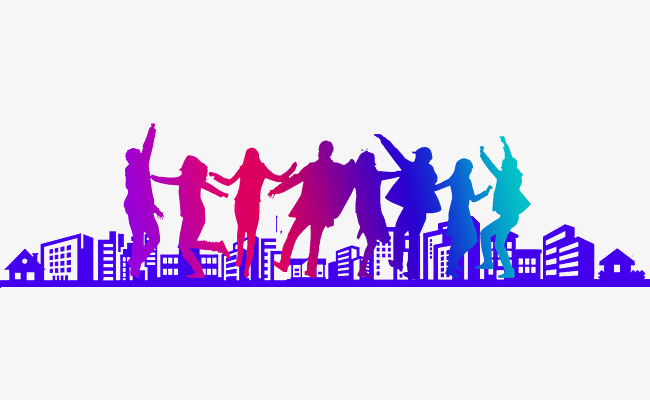 Young Men And Women Dancing Youth Theme, Youth Theme Background.