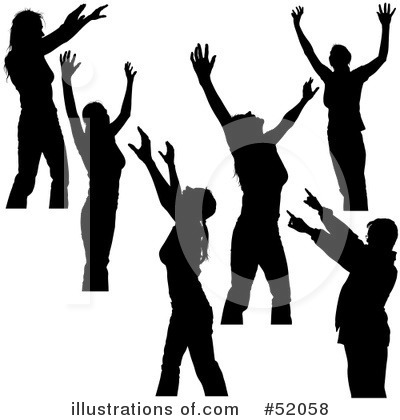 Youth Praising God Clip Art images.