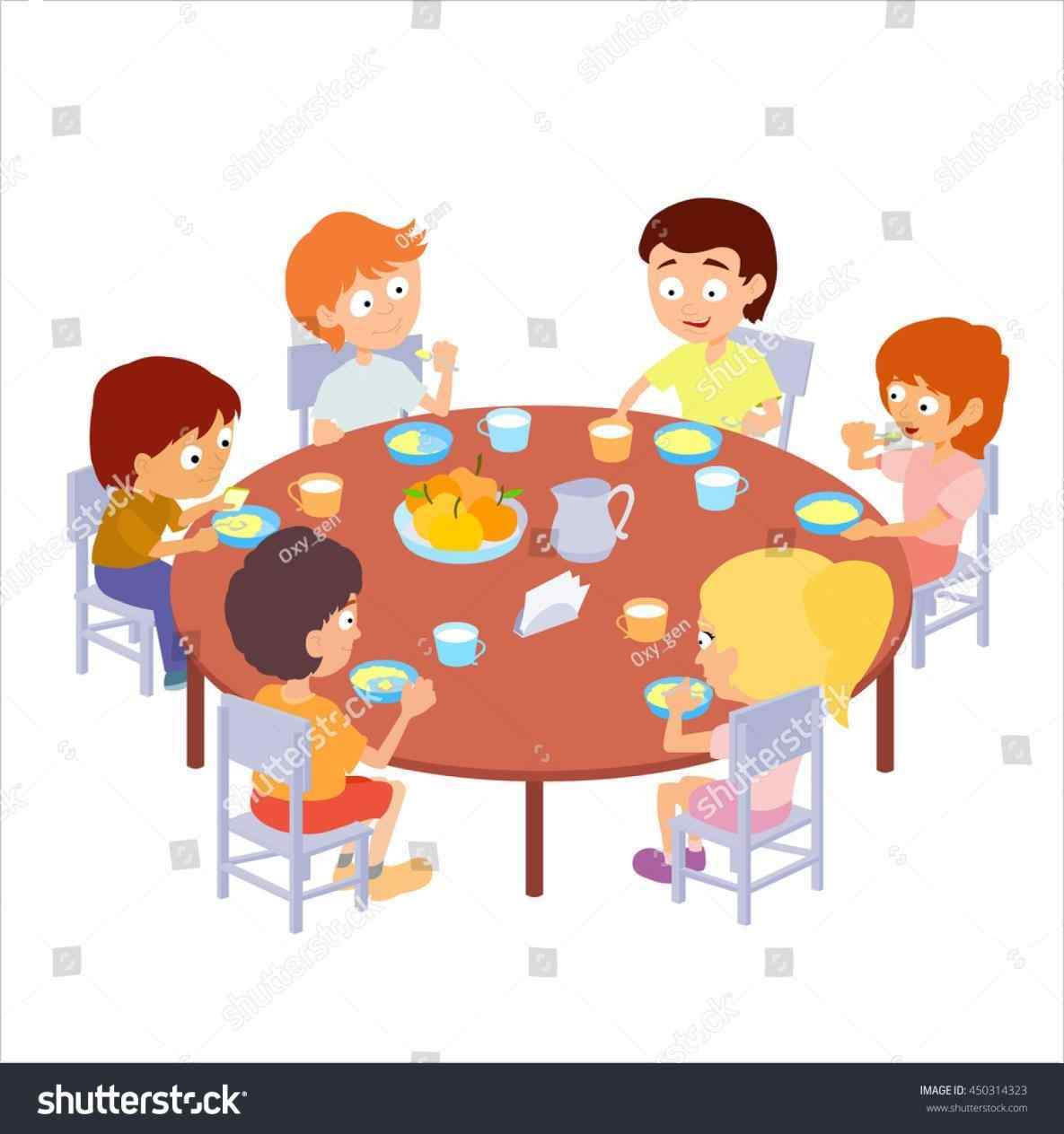 Healthy Breakfast For Kids Clipart.