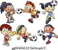 Kids Soccer Clip Art.