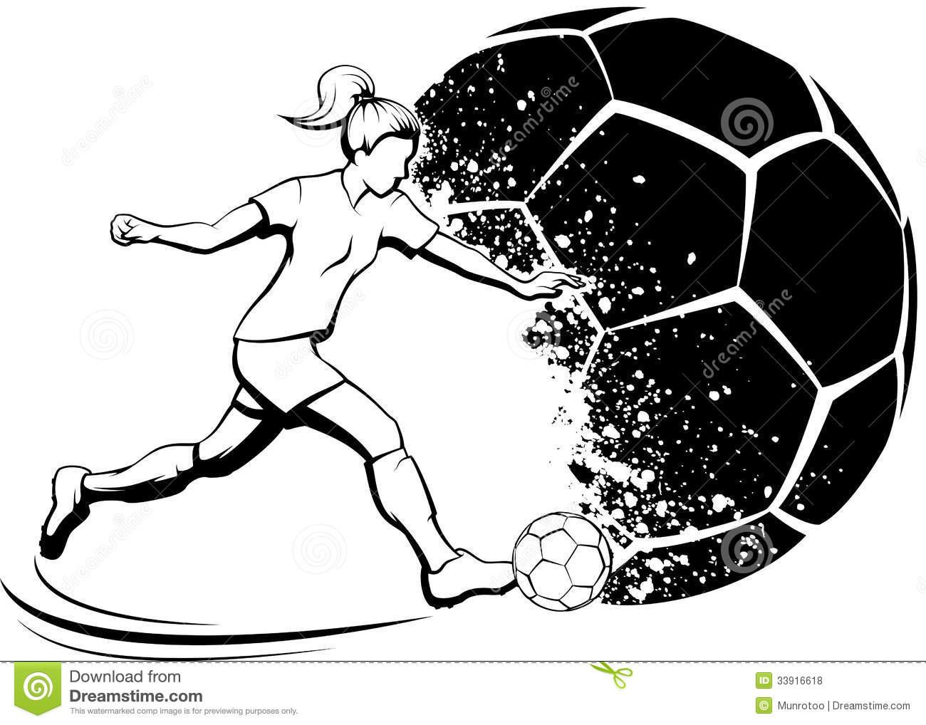 Girls Soccer Clipart Free.
