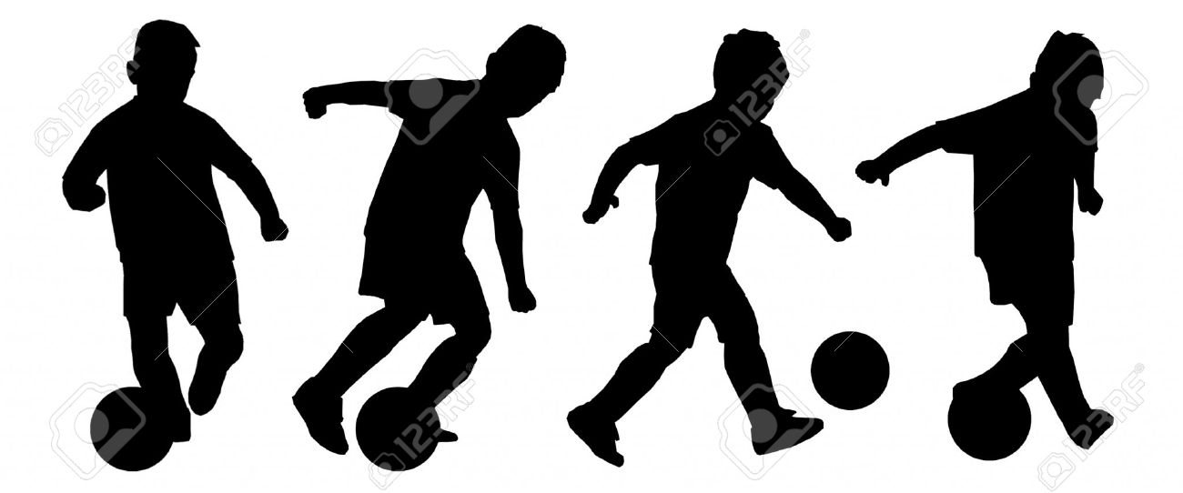 Youth Football Silhouette.