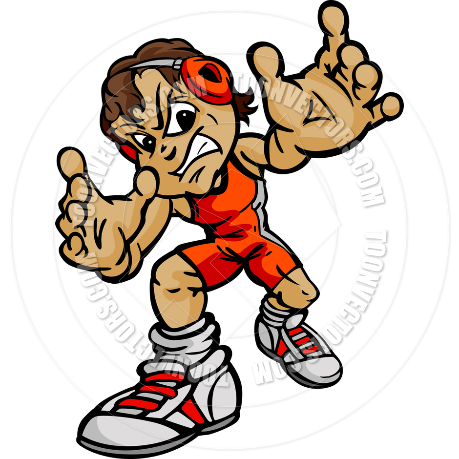 Youth Wrestling Clipart.