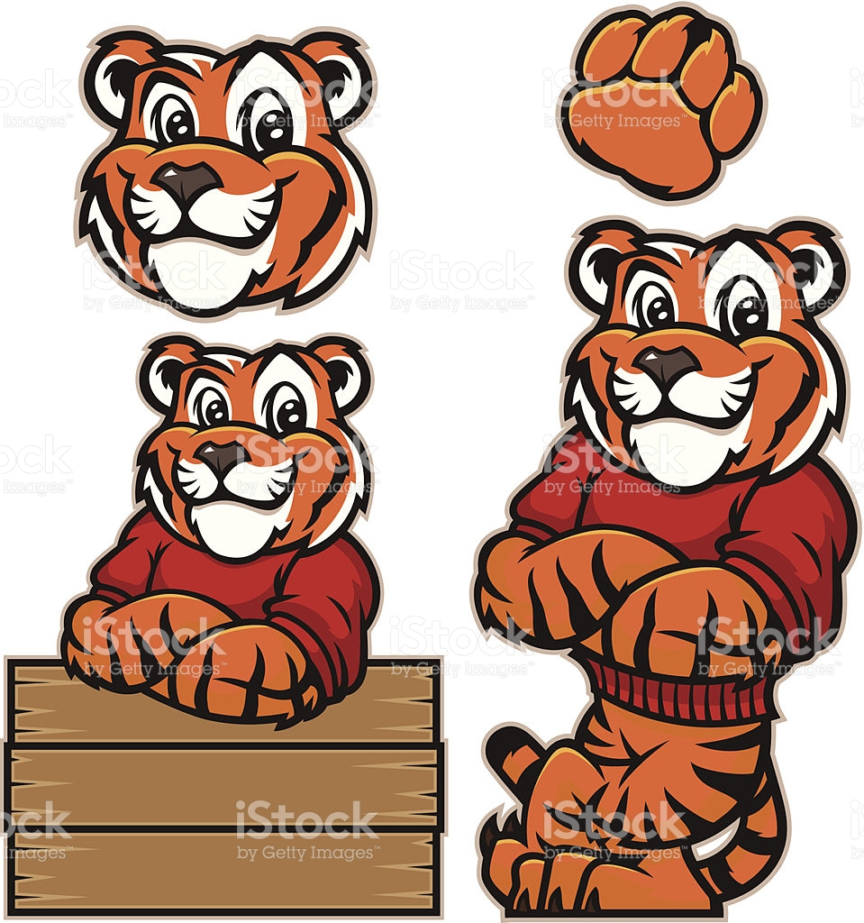 Youthful Tiger stock vector art 469921959.