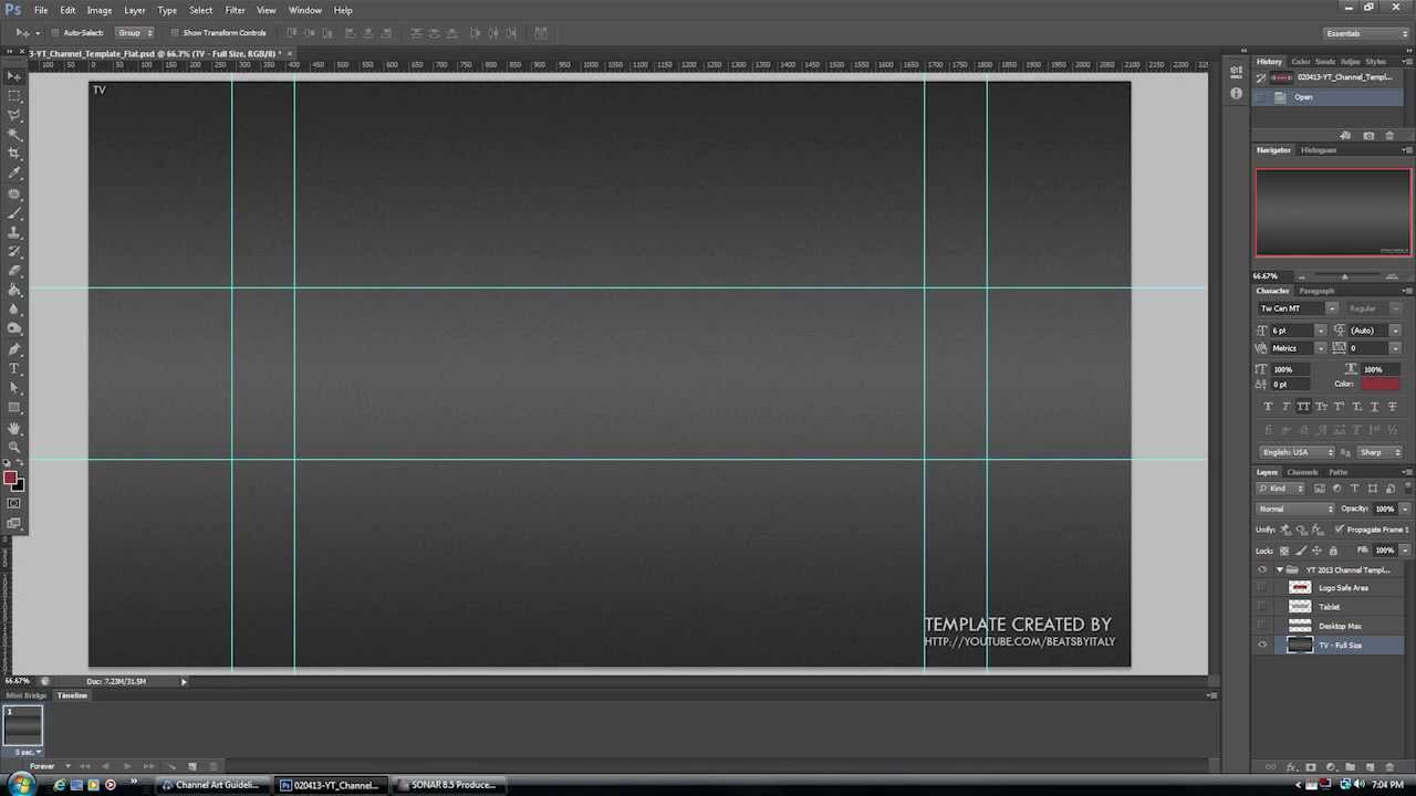 NEW YOUTUBE CHANNEL DESIGN BANNER LAYOUT PSD TEMPLATE 2013 + PNG.