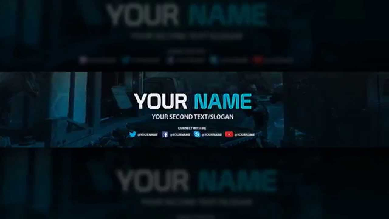 YouTube Banner Template.
