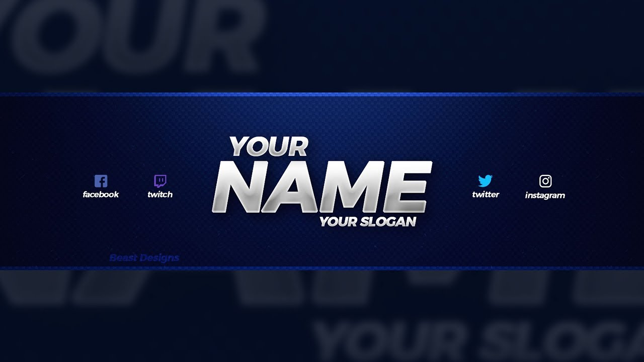 NEW FREE 2018 YouTube Banner Template!.