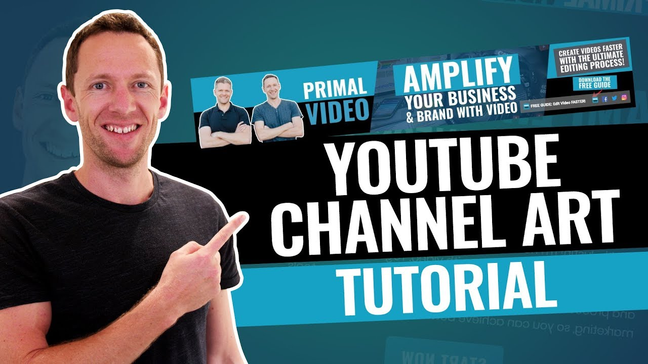 How to Make a YouTube Banner (YouTube Channel Art Tutorial!).
