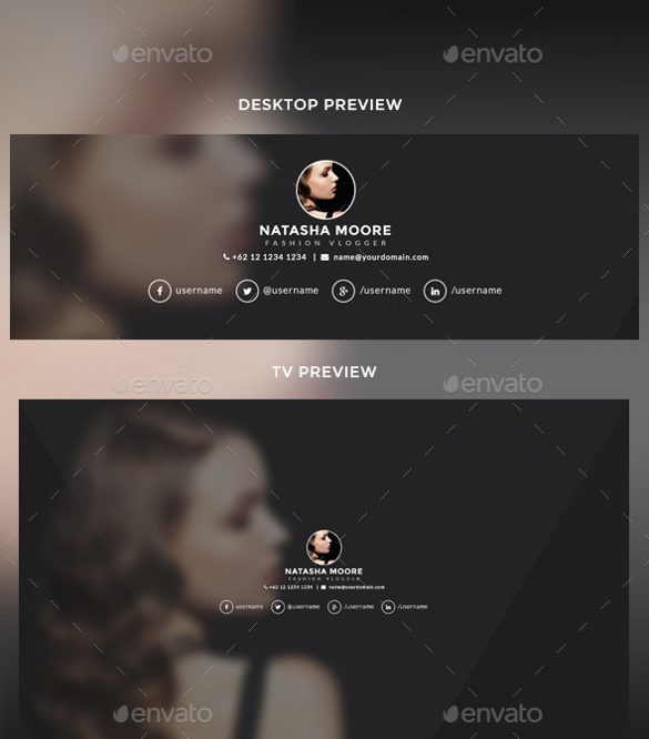 Youtube Channel Art Template.