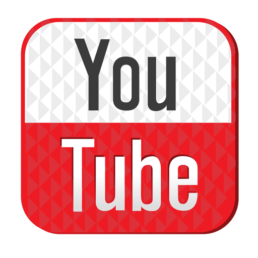 Youtube rubber icon.