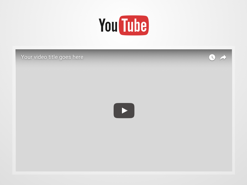 YouTube Video Frame Sketch freebie.