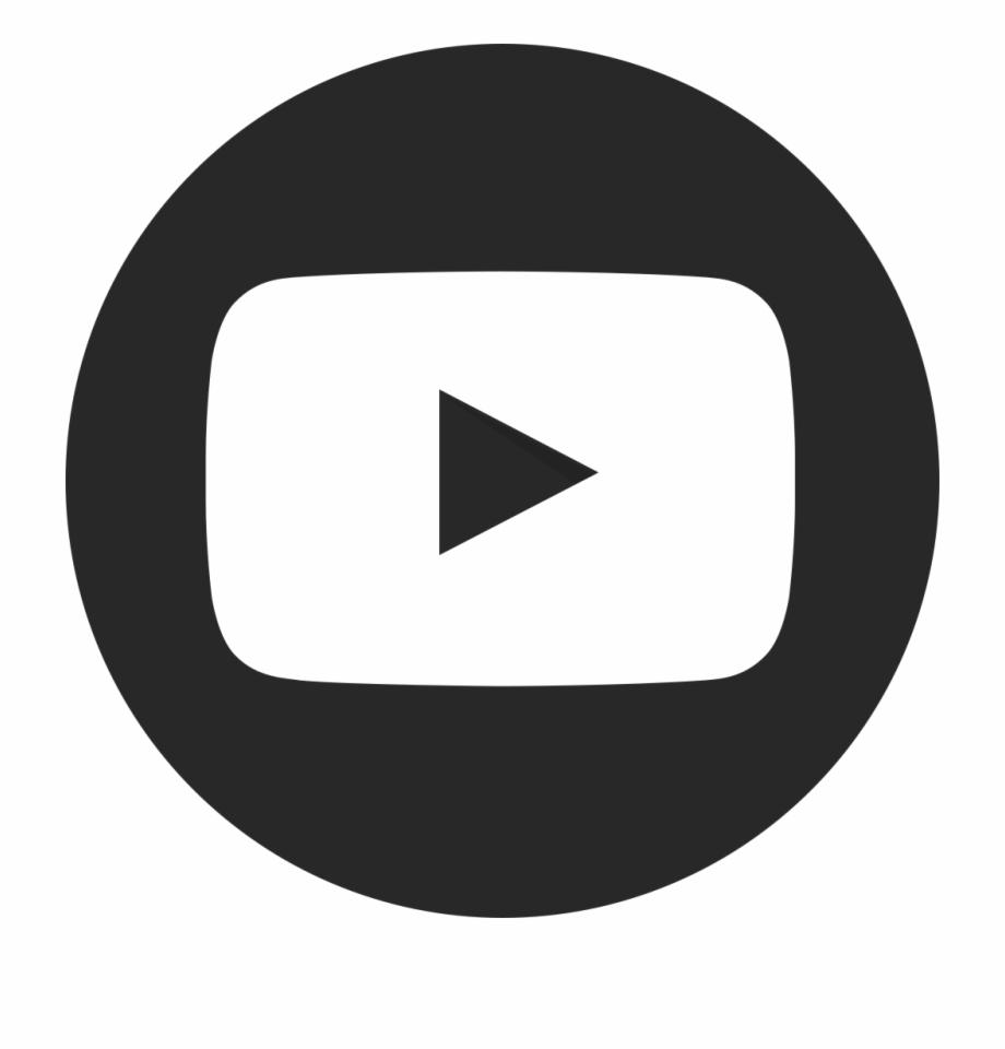 Youtube Play Button Dark Circular.