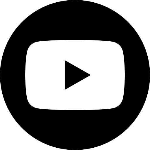 App, b/w, logo, media, popular, social, youtube icon.