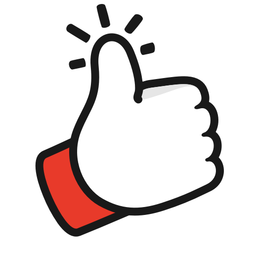 Gesture, like, thumbs, up, youtube icon.