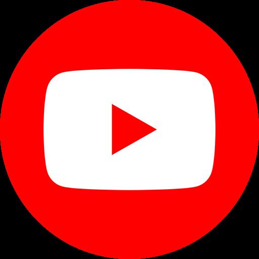 App, logo, media, popular, social, youtube icon.