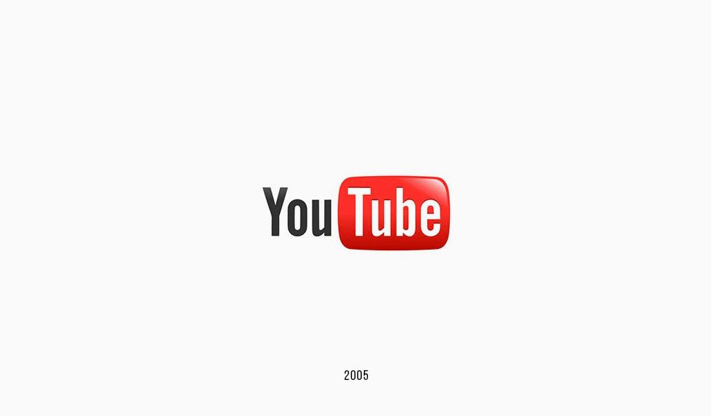 YouTube logo design.