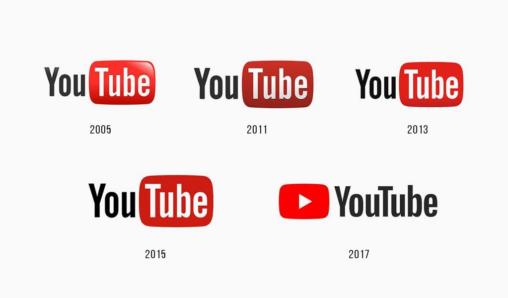 Youtube logo history.