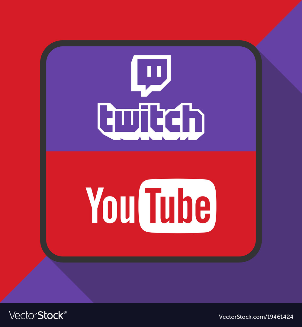 Twitch and youtube logo with background ima.