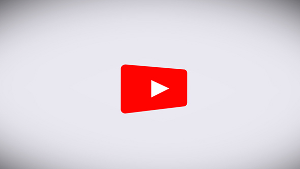 The Youtube Logo Transforms Into a Subscribe Button on a White Background.