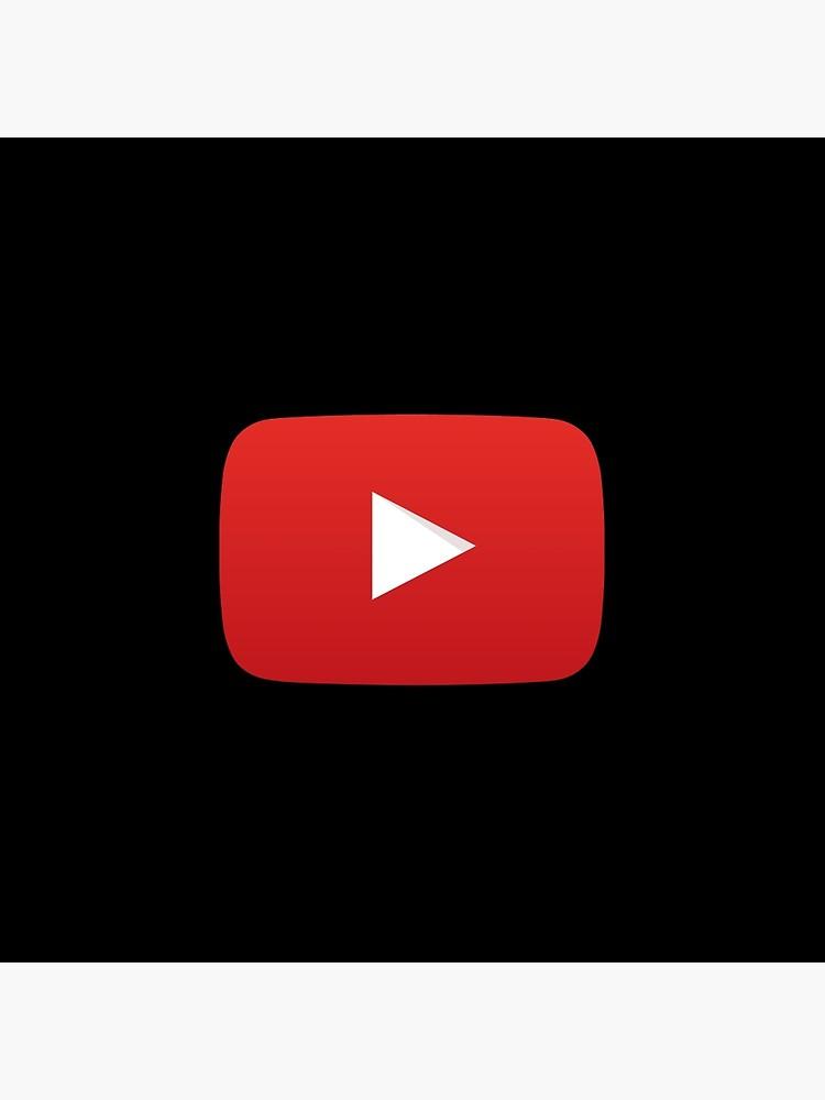 Youtube Button Black Background.